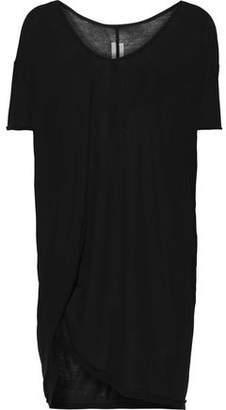 Rick Owens Hiked Draped Slub Jersey T-shirt