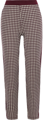 Rag & Bone Mari Houndstooth Jacquard-knit Track Pants