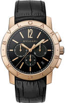 Bvlgari-bvlgari Velocissimo 18ct Gold And Alligator-leather Watch