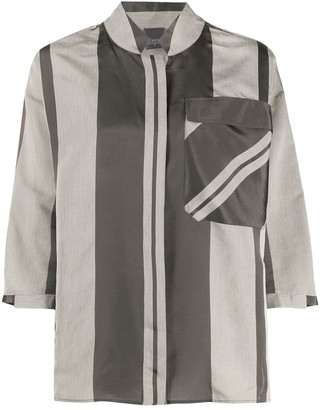 Lorena Antoniazzi Maxi-Striped Pocket Shirt