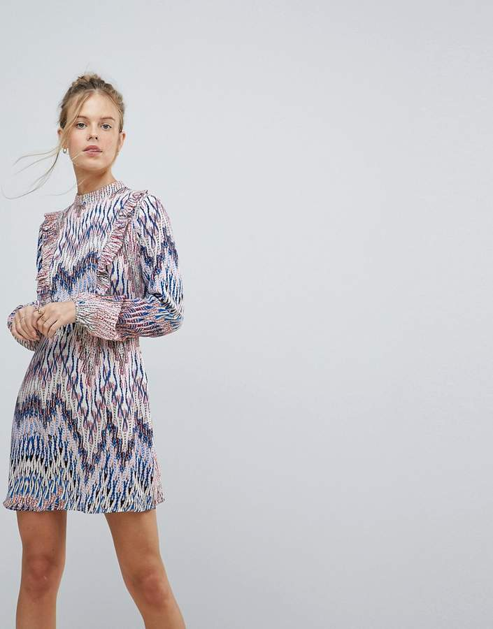 AX Paris Long Sleeve Graphic Print Dress