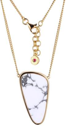 Elle Sterling Silver Serenity White Howlite Necklace