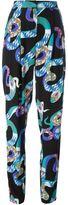 MSGM snake print trousers - women - Silk - 40