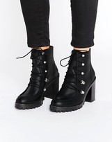 Asos EISHA Leather Hiker Boots