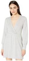 BCBGeneration Twist Front Long Sleeve Dress - TQF6263720 (Heather Grey) Women's Dress