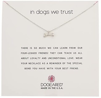 Dogeared In Dogs We Trust, Dog Bone Necklace (Sterling Silver) Necklace
