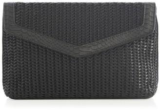 Shiraleah Kaia Woven Faux Leather Clutch