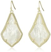 Kendra Scott Signature Alex Gold Plated and Ivory Mother-of-Pearl Drop Earrings