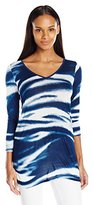G.H. Bass & Co. Women's 3/4 Sleeve V Neck Top