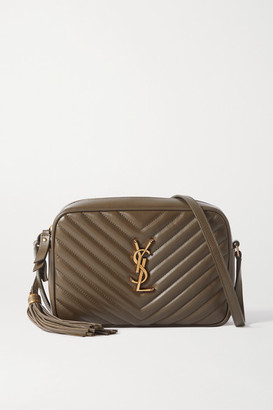 Saint Laurent Lou Quilted Leather Shoulder Bag - Army green