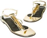 DAVIS BY RUTHIE DAVIS Metallic Zipper Sandal