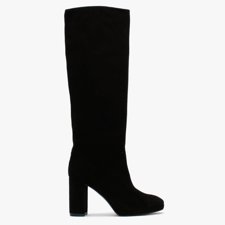 Daniel Ary Black Suede Knee High Boots