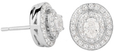 Jenny Packham 18ct White Gold 0.45 Carat Total Weight Oval Cut Double Halo Diamond Earrings
