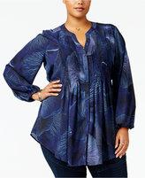 Melissa McCarthy Trendy Plus Size Tie-Back Blouse