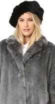 Adrienne Landau Knit Fur Beret