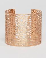 Pilgrim Cut Out Detail Chunky Cuff Bracelet
