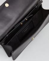 Saint Laurent Marquage Medium Clutch Bag, Black