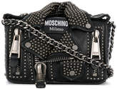 Moschino studded leather jacket bag
