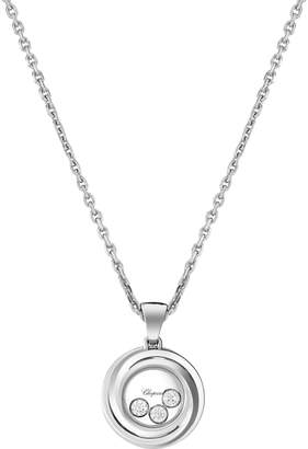 Chopard White Gold and Diamond Happy Emotions Pendant