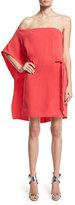 Halston Asymmetric Off-Shoulder Dress, Poppy
