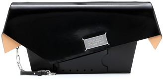 Maison Margiela Snatched Large patent leather clutch