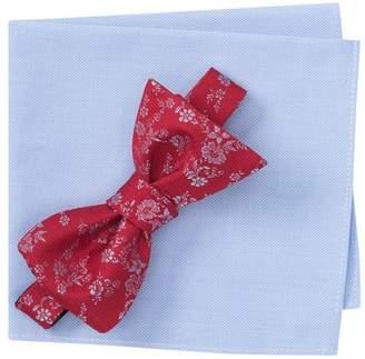 Nordstrom Rack Porter Floral Bow Tie & Solid Pocket Square Set
