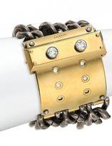 Lanvin Large Metal & Crystal Chain Bracelet