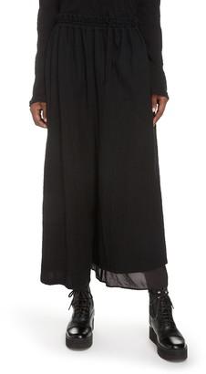 Y's by Yohji Yamamoto Wide Leg Crop Pants