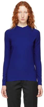 Namacheko Blue Double Faced Mock Neck Sweater