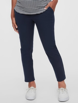 Gap Maternity True Waistband Full Panel Slim Ankle Pants