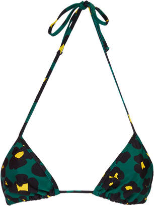 La DoubleJ Printed Triangle Bikini Top