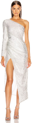 Galvan Mamounia Dress in Ice White | FWRD
