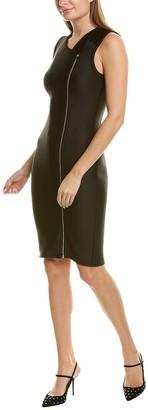 Yigal Azrouel Zipper Scuba Sheath Dress