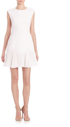 Rebecca Taylor Knit Flounce-Hem Dress