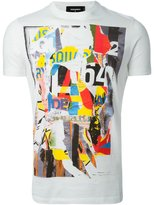 DSQUARED2 abstract print T-shirt