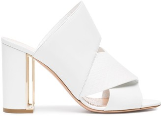 Nicholas Kirkwood White Nini 90 leather sandals