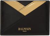 Balmain Black Geometric Card Holder