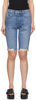 GRLFRND Blue Denim Beverly Long Shorts