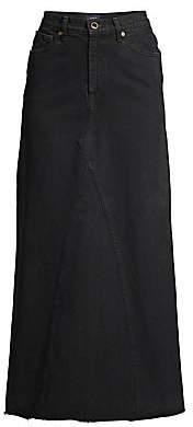 KHAITE Women's Magdelena Denim Maxi Skirt