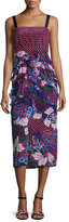 Saloni Dana Floral-Print Dotted Sleeveless Midi Dress, Chillipolka
