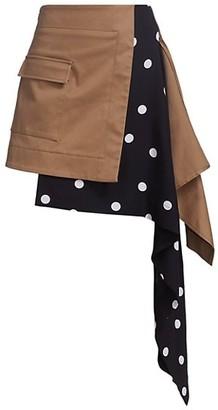Monse Cascade Trench Polka Dot Skirt