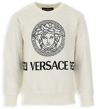 Versace Little Boy's & Boy's Medusa Sweatshirt Jersey