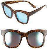 Quay Women's 'Sagano' 50Mm Square Sunglasses - Tortoise/ Blue