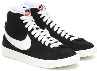 Nike Kids Blazer Mid suede sneakers