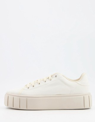 Schuh Mavis chunky flatform sneakers in beige
