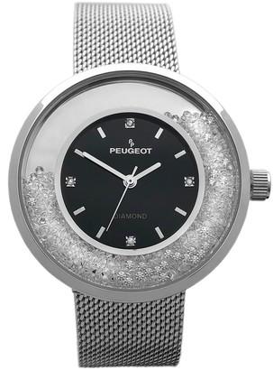 Peugeot Women's Crystal Mesh Band Watch