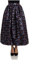 MSGM Brocade Fabric Flared Skirt