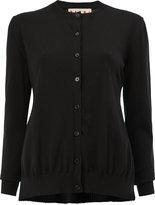 Marni plissé pleat back cardigan - women - Silk/Cotton/Acetate - 38