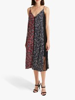 French Connection Amerie Lace Floral Mix Cami Dress, Rosso Red/Multi