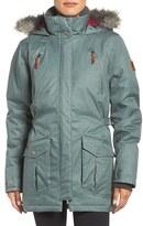Columbia Women's 'Barlow Pass' 550 Turbodown(TM) Waterproof Jacket With Faux Fur Trim